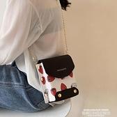 手机包 包包女2021新款潮少女超火鏈條小方包ins小巧可愛百搭斜背手機包 【618 狂歡】