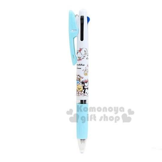 〔小禮堂〕迪士尼 TsumTsum 日製多色原子筆《綠白.大臉》0.5mm.三色筆.多色筆.Jetstream系列 4991277-09737