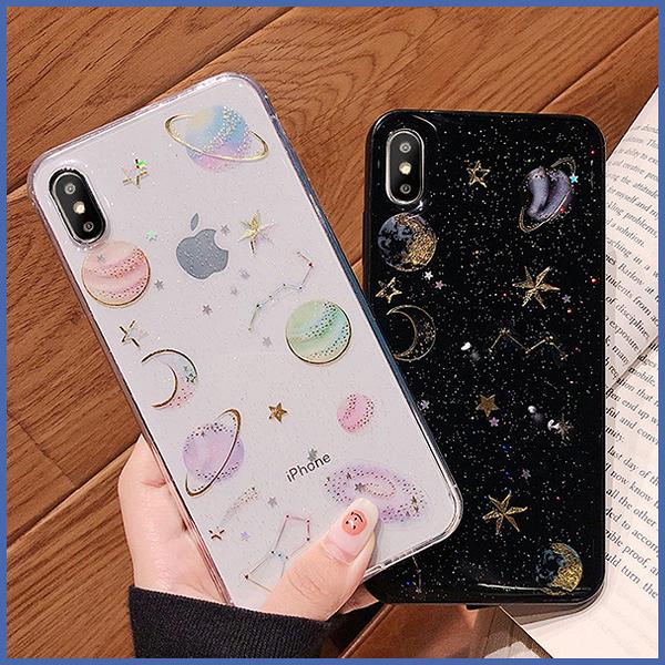 蘋果 iPhone11 Pro Max SE2 XS MAX IX XR XS i8 Plus i7 i6S 水鑽星球 手機殼 全包邊 軟殼 保護殼