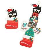〔小禮堂〕酷企鵝 立體襪子造型聖誕卡片《綠》耶誕賀卡.節慶卡 4901610-31963