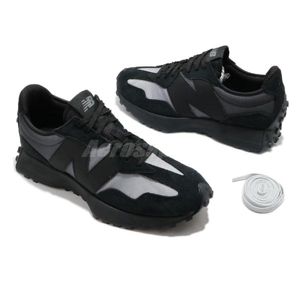 New Balance 休閒鞋 327 男鞋 女鞋 全尺段 黑 灰 大N 膠底 復古 情侶 運動鞋【ACS】 MS327SBD