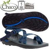 Chaco ZLM02_HD05奧斯陸藍 男越野紓壓涼鞋-Z/Cloud2夾腳款 綁帶涼鞋