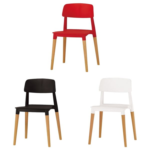 【森可家居】奧斯本造型椅(紅) (實木) 8CM1040-10 商業椅