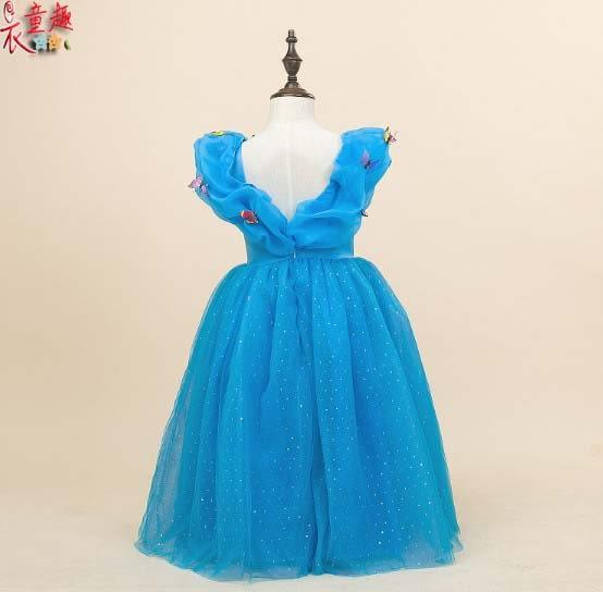 衣童趣 ♥甜美公主 灰姑娘公主裙子  萬聖節兒童服裝 冰雪奇緣澎澎連身裙