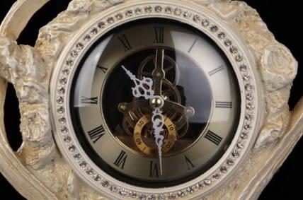 協貿國際復古鳳凰齒輪座鐘1入
