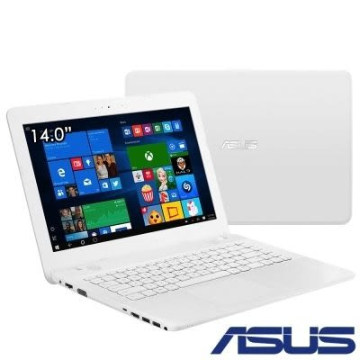 ASUS X441NA 14吋四核筆電-天使白(X441NA-0023GN4200) 福利品 送小米燈+滑鼠墊+保護套