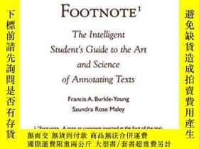 二手書博民逛書店The罕見Art Of The Footnote-腳註的藝術Y436638 Francis A. Burkle