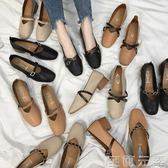 女鞋新款春季奶奶鞋粗跟單鞋韓版春秋百搭中跟豆豆鞋子女 至簡元素