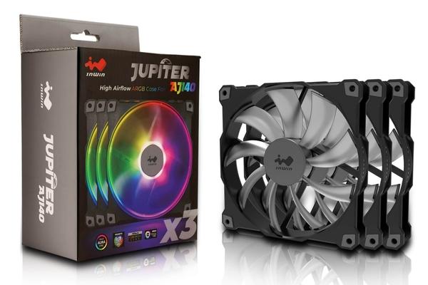 迎廣Jupiter AJ140 ARGB 機殼風扇-三包裝( Molding線材)