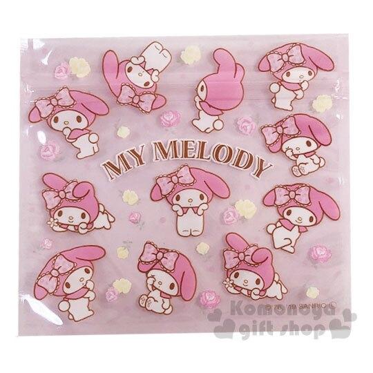 〔小禮堂〕美樂蒂 方形透明夾鏈袋組《M.4入.粉》分類袋.糖果袋.銅板小物 4904555-05540