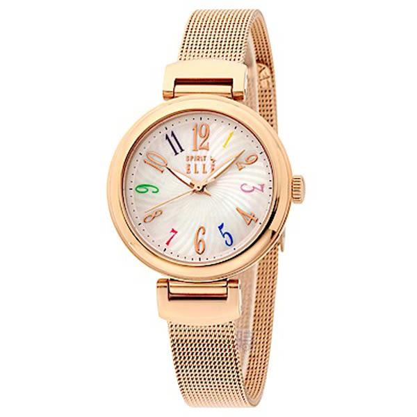 ELLE (ES21023B03X) 米蘭帶 玫瑰金 女錶/31mm