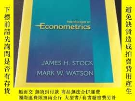 二手書博民逛書店INTRODUCTION罕見TO ECONOMETRICSY271942 James H.STOCK PEAR