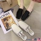 熱賣穆勒鞋 半拖鞋女2021春季新款網紅平底百搭包頭穆勒鞋外穿懶人拖鞋女 coco