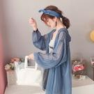 長款防曬衣 大碼超仙防曬衣女外穿夏季新款中長款寬鬆薄款外套-Ballet朵朵