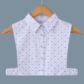 假領子襯衫穿搭針織外套領片綠葉子大學T針織衫外套[E1284] 滿額送愛康衛生棉預購.朵曼堤洋行