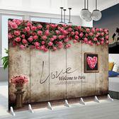 訂製   屏風隔斷房間客廳時尚臥室省空間服裝店簡約折疊移動推拉現代折屏YXS      韓小姐的衣櫥