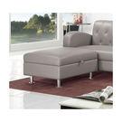 【森可家居】戴爾灰色收納型腳椅 7ZX320-7 沙發 椅凳