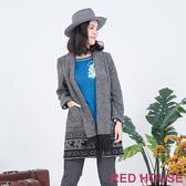 RED HOUSE-蕾赫斯-麋鹿開襟外套(深灰色)