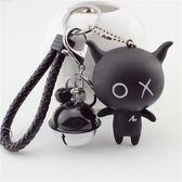 鑰匙圈 創意可愛安豆黑仔鑰匙扣男女情侶汽車鑰匙錬包包掛件     唯伊時尚