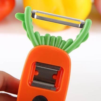 紅蘿蔔削皮器 多用途刨刀 四合一削刀(削皮、挖芽眼、附磁鐵、開瓶器)