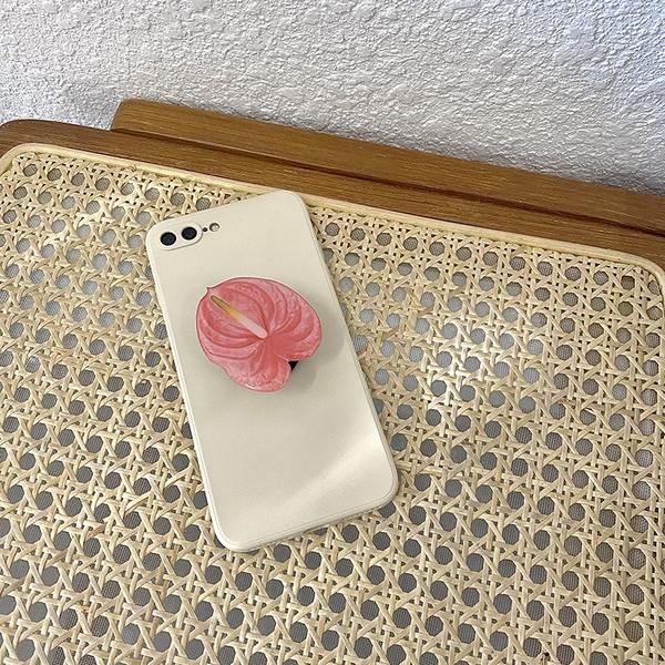 韓國ins原創手機氣囊支架 簡約ins花藝術便攜可伸縮小眾設計
