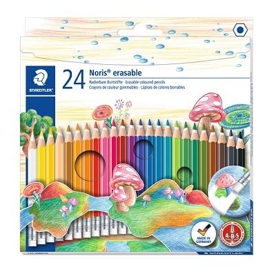 施德樓 快樂學園 可擦拭色鉛筆 24色/盒 MS14450NC24