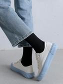 白色長襪子女中筒襪ins潮春夏季薄款素黑色長筒襪男夏天透氣 韓國時尚週