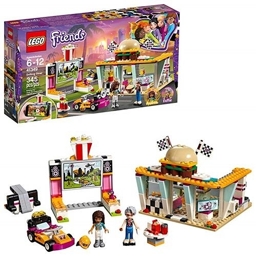 LEGO 樂高 Friends Drifting Diner 41349 Race Car and Go-Kart Toy Building Kit (345 Pieces)