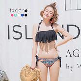 東京著衣-多色繽紛流蘇綁帶兩件式泳裝(180285)