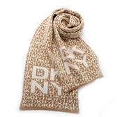 DKNY 字母滿版LOGO混羊毛圍巾(駝色)380001-2