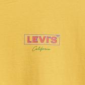 Levis 男款 短袖T恤 / 膠印復古Box Logo / 芥末黃