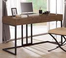 【森可家居】艾德斯4尺書桌 8CM895-1 (不含椅) 實木皮 木紋質感 工業風