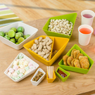 幾何造型果盤 分格 拆分 水果 零食 瓜子 收納 水果 零嘴 蜜餞 甜點 點心【N125】生活家精品