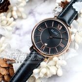 DEJAVU 羅馬時刻 繽紛色系 指針錶 學生手錶 日期顯示窗 皮革 女錶 DJ-5022黑玫