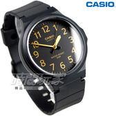 CASIO卡西歐MW-240-1B2 撞色數字圓錶 橡膠錶帶 黑金色 MW-240-1B2VDF  防水手錶 正韓  指針錶