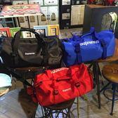 媽媽包日韓原創字母印花手提包時尚運動健身單肩包男女旅行袋實用行李包