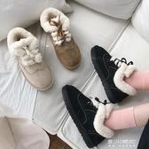 雪地靴-雪地靴女新款時尚短筒冬季潮鞋百搭厚底可愛加絨保暖麵包棉鞋 東川崎町