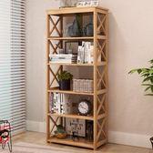 書架客廳簡約現代臥室小簡易落地創意竹子置物架邊柜拐角酒柜書柜igo 極度潮客