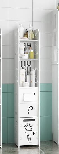衛生間置物架壁掛免打孔廁所洗手台落地馬桶側邊櫃三角浴室收納架 【全館免運】