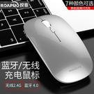 滑鼠無線藍牙鼠標 充電無聲靜音蘋果macbook air筆記本電腦女生薄鼠標【優惠兩天】