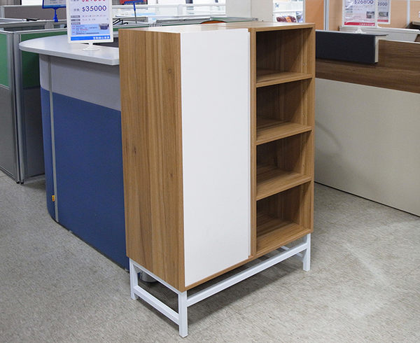 華為美式4格1門書櫃/收納櫃/置物櫃/公文櫃