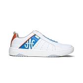 【南紡購物中心】【Royal Elastics】ICON2.0 白藍橘真皮潮流運動休閒鞋 (男) 06501-052