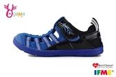 IFME 日本機能鞋 水涼鞋 中童 休閒運動鞋 P7621#藍黑◆OSOME奧森鞋業