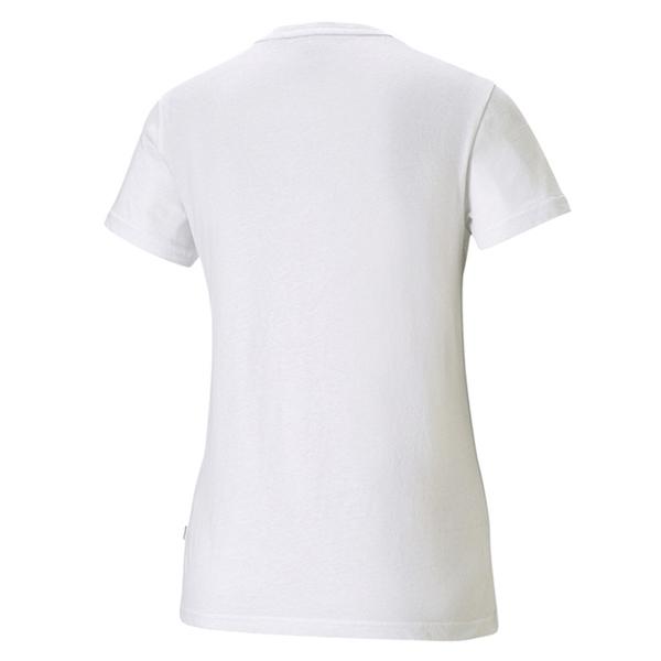 【現貨】PUMA 女裝 短袖 休閒 基本 棉質 歐規 白 【運動世界】58789802