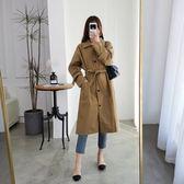 時尚休閒外套L-4XL大衣洋氣减齡大碼寬鬆中長款過膝適合胖女人穿的風衣外套R033A-1581