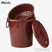 茶桶茶渣桶茶具配件茶臺廢水桶茶幾桶茶具桶排水桶家用小號茶水桶 NMS名購居家