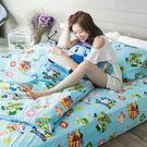 被套 / 雙人【波力救援小英雄-藍】韓國可愛卡通,磨毛多工法處理,戀家小舖台灣製