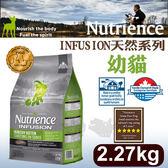 PetLand寵物樂園《Nutrience紐崔斯》INFUSION天然糧系列-幼貓(雞肉)2.27kg/貓飼料
