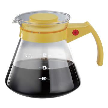金時代書香咖啡 Tiamo 玻璃咖啡壺 450cc 黃色 HG2334