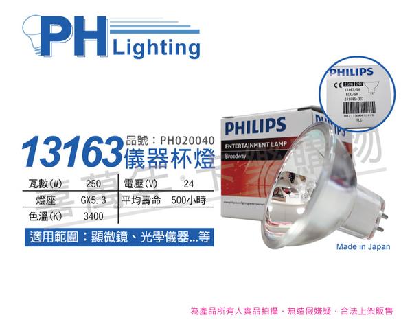 PHILIPS飛利浦 13163 24V 250W 5H GX5.3 ELC 特殊儀器杯燈_PH020040
